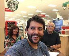 From a Starbucks in a Target with Gleib's Parents